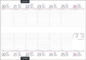 Interior Agenda Planner IT430 10.5x29.8 cm datata saptamanal cu spirala