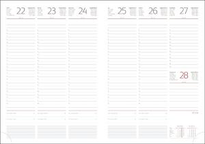 Interior Agenda R459 hartie alba datat saptamanal