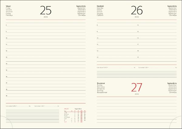 Interior Agenda R457 hartie ivorie datat zilnic