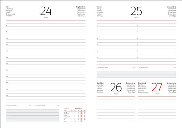 Interior Agenda R460 hartie alba datat zilnic