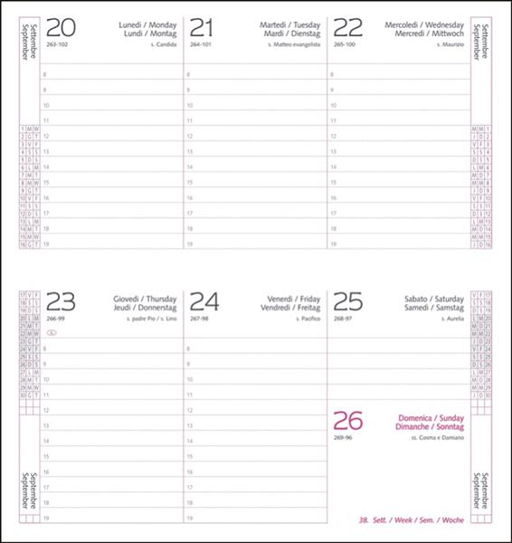 Interior Agenda IT480 8x15 cm datat saptamanal
