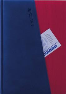 Agenda Super Sail albastru cu rosu datata zilnic