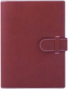 Agenda lux Arles rosie bordeaux cu interior ivory si bloc mobil aurit