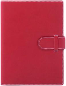 Agenda lux Arles rosie cu interior ivory si bloc mobil aurit