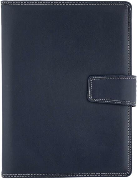 Agenda Lux Basic Albastru interior ivory bloc aurit