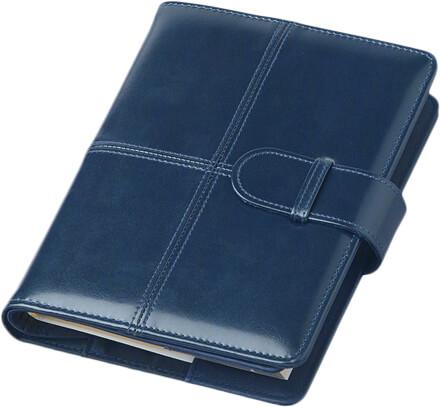 Agenda Lux Bluette cu inchizatoare interior cu buzunare cart vizita