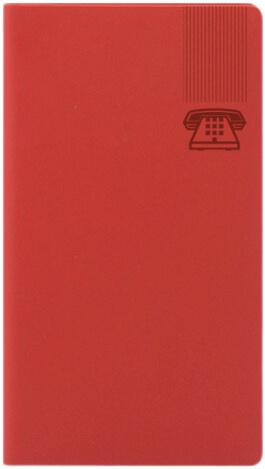 Agenda Telefonica Matra Rosu Coral interior etichetat de la A la Z