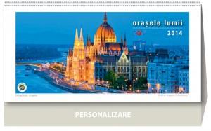 Calendar de birou Orasele lumii 2014 - coperta