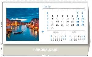 Calendar de birou Orasele lumii 2014 - grila interior