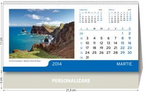 Calendar de birou Peisaje 2014 - grila interior
