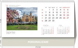 Calendar de birou Romania 2014 - grila coperta