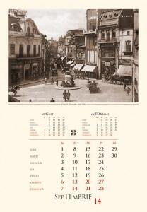 Calendar de perete Bucurestiul Vechi 2014 - fila interior