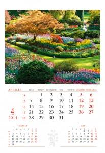Calendar de perete Gradini 2014 - fila interior
