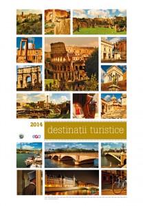 Calendar de perete Destinatii turistice 2014 - coperta