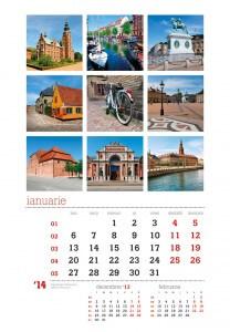 Calendar de perete Destinatii turistice 2014 - fila interior