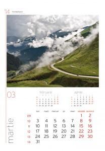 Calendar de perete Romania 2014 - fila interior