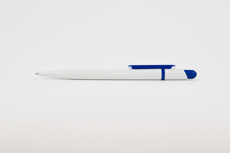 Pix din Plastic Smart Alb cu clips Albastru - personalizare prin tampografie