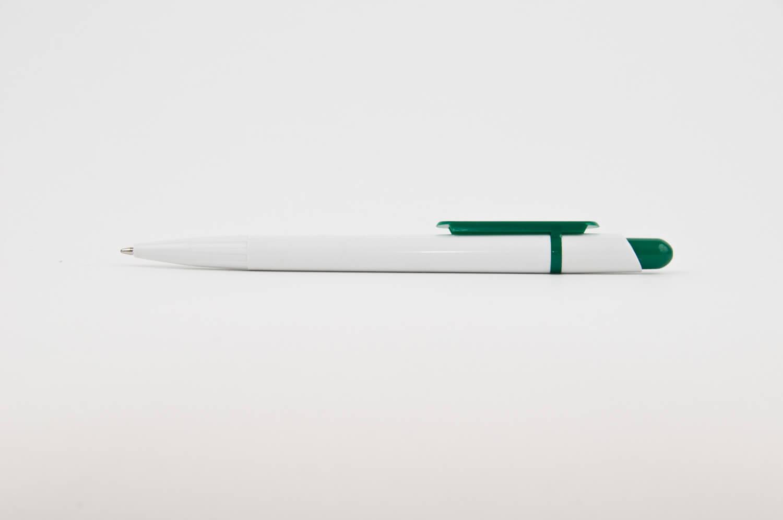 Pix din Plastic Smart Alb cu clips Verde - personalizare prin tampografie