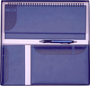 Set Agende Kent Albastru format din agenda datata planner agenda de buzunar cutie si pix