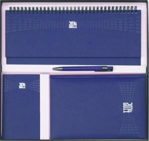 Set Agende Matra Albastru format din agenda datata planner agenda de buzunar cutie si pix