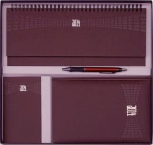 Set Agende Matra Rosu Bordeaux format din agenda datata planner agenda de buzunar cutie si pix