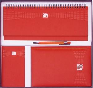 Set Agende Matra Rosu format din agenda datata planner agenda de buzunar cutie si pix