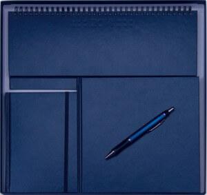 Set Agende Square Albastru format din agenda datata planner agenda de buzunar cutie si pix