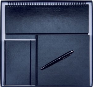 Set Agende Square Negru format din agenda datata planner agenda de buzunar cutie si pix