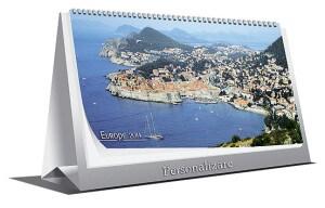Calendar de birou Europe datat 2014 personalizabil