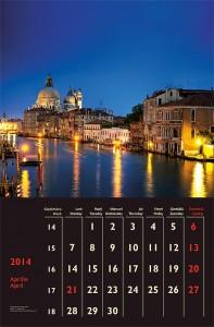 Calendar de perete City Lights 2014 - fila interior