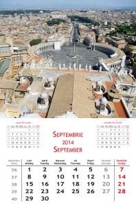 Calendar de perete Europe 2014 - fila interior