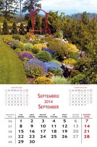 Calendar de perete Gardens 2014 - fila interior