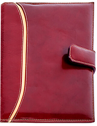 Agenda piele brown bordo copy
