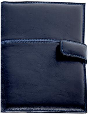 agenda  piele Linee albastru copy