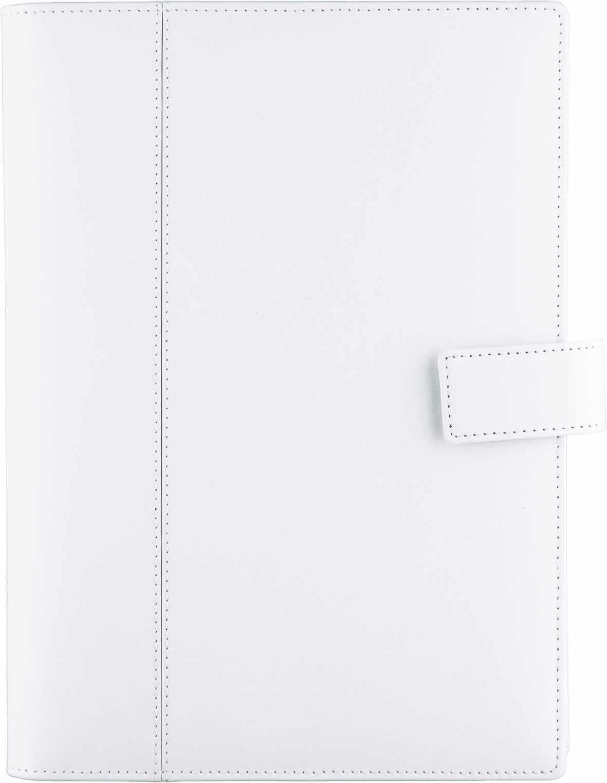 agenda piele bianca 17 X 24 cm