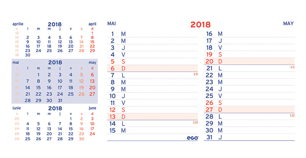 The holy ghost electric show : Sd22 calendar 2018